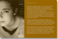 website for melia watras, biography