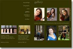 website for melia watras, gallery